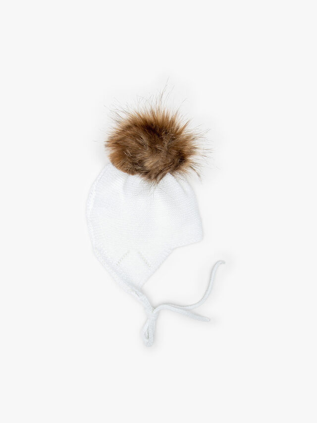 Knitted Pom Pom Hat