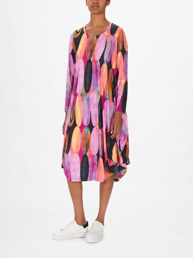 Utas Printed Balloon Hem Dress