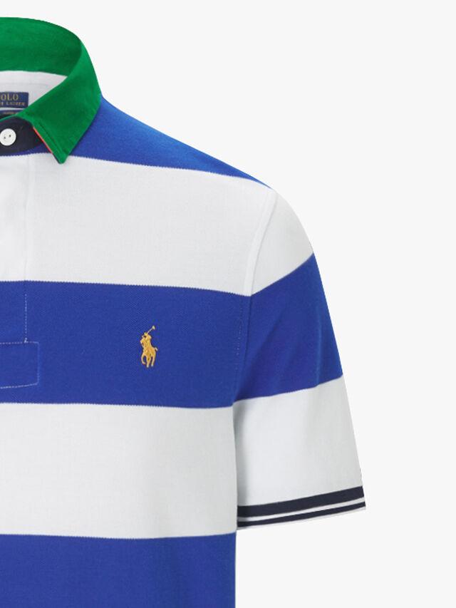 Stripe Contrast Polo