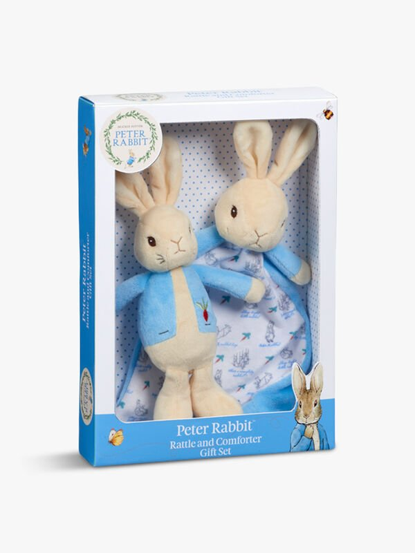 Peter Rabbit Rattle & Comforter Set