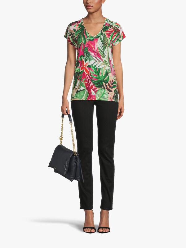 Tropical Print T Shirt