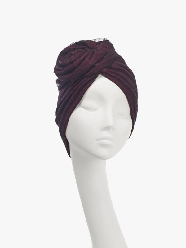 Jersey Tulle Rose Turban
