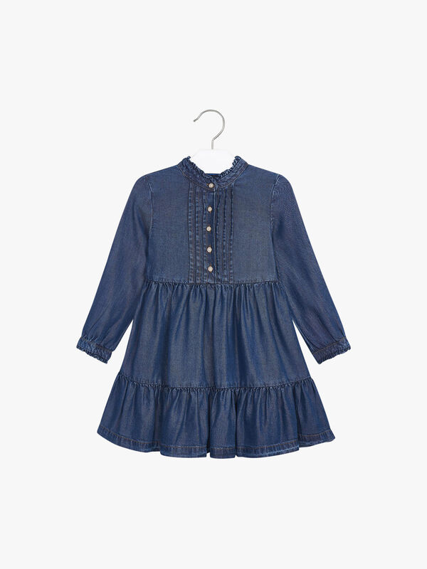 Denim Dress With Button Details