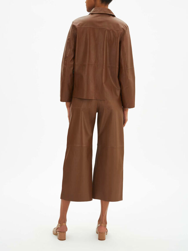 Leggio Leather Coat