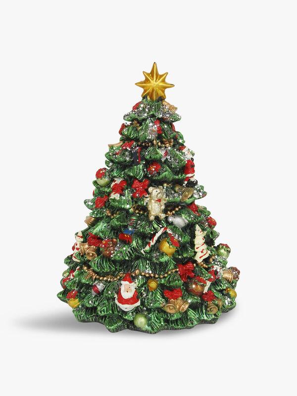 Revolving Resin Christmas Tree Music Box