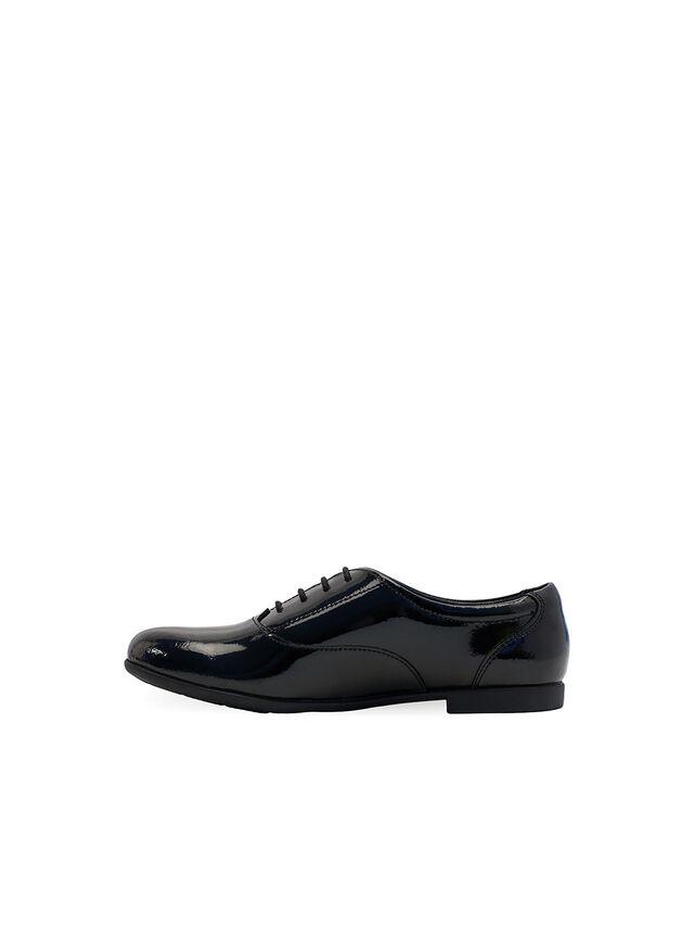 Talent Black Patent School Shoes