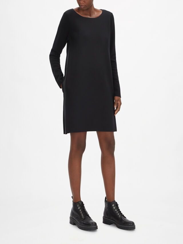 A-Shape Side Stripe Tunic Dress