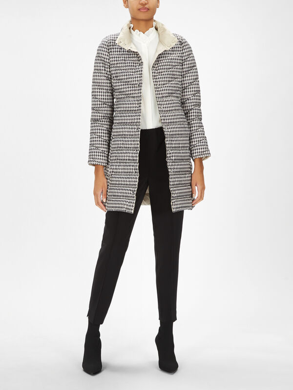 Sand Reversible Quilted Coat