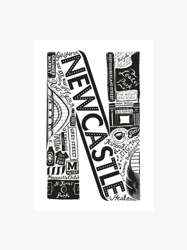 Newcastle Alphabet Print