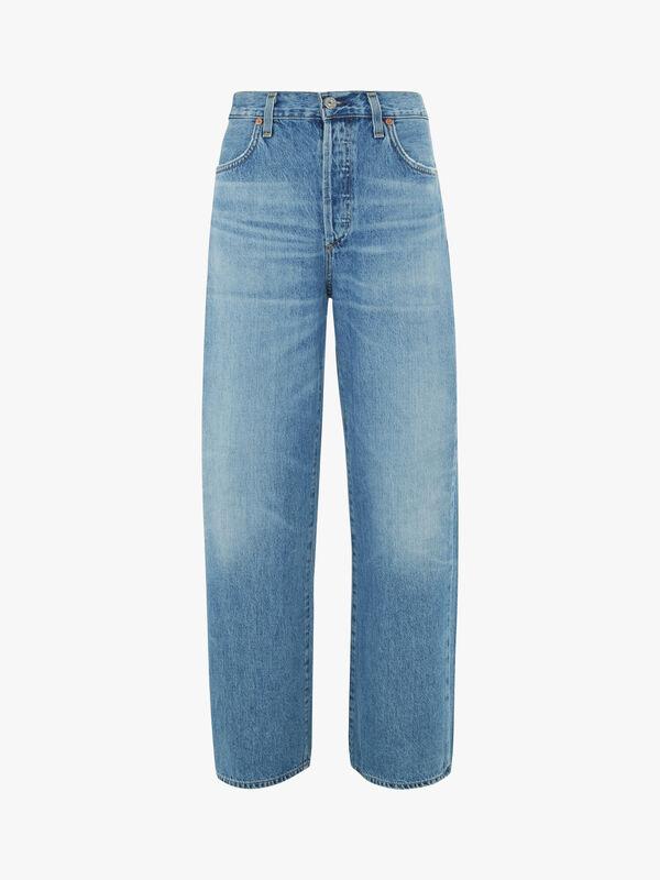 Flavie Wide Leg Full Length High Rise Jeans