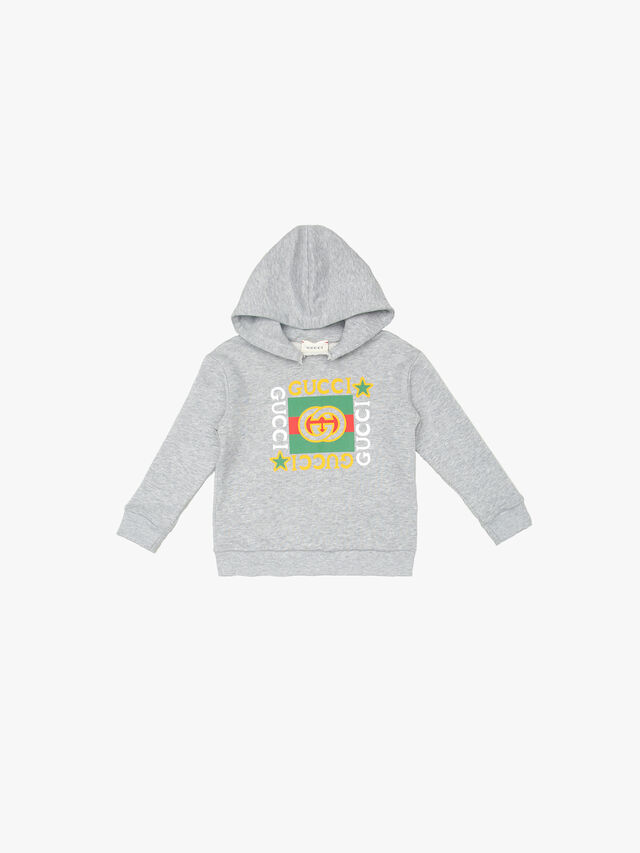 Hooded Swweatshirt With Gucci Print