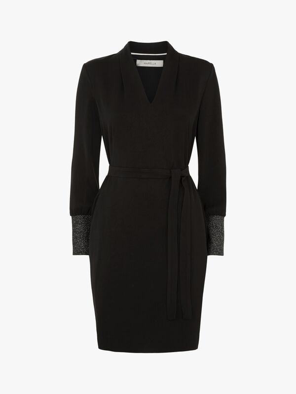 Picco Lurex Cuff LS Dress