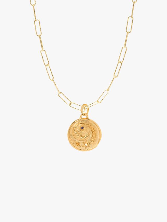 Luna Medium Diamond Cut Necklace
