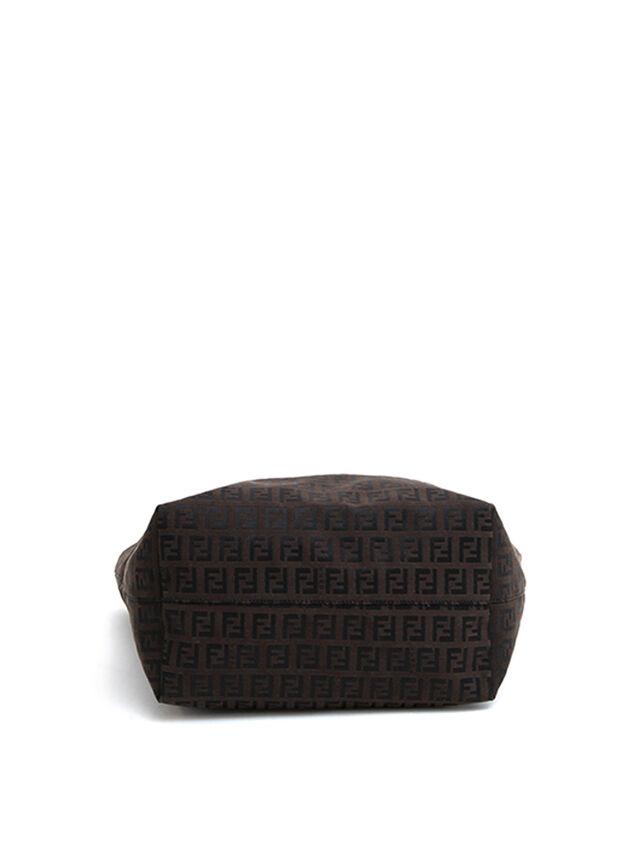 Fendi Leather Trim Tote