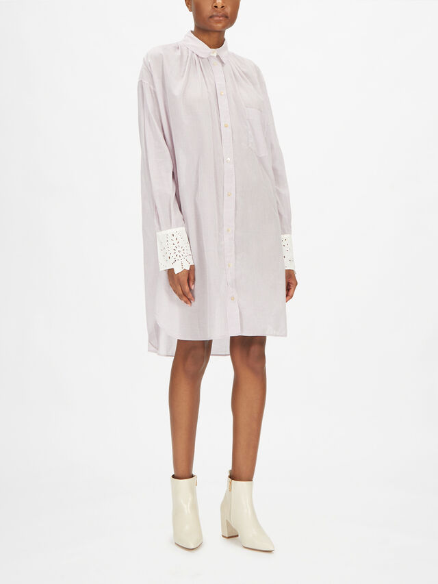 Vichy Cotton Oversized Jacket