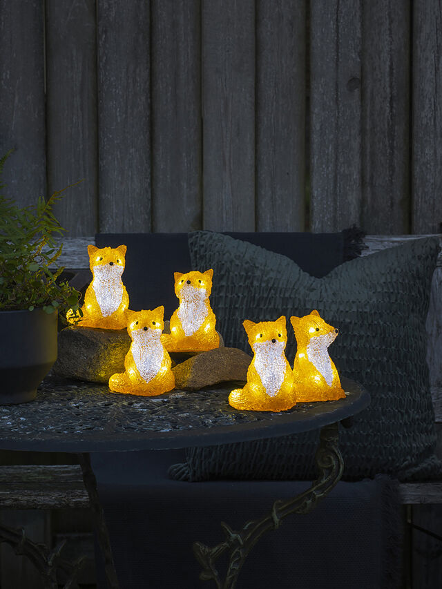 LED Sitting Foxes 5 Piece Set IP20