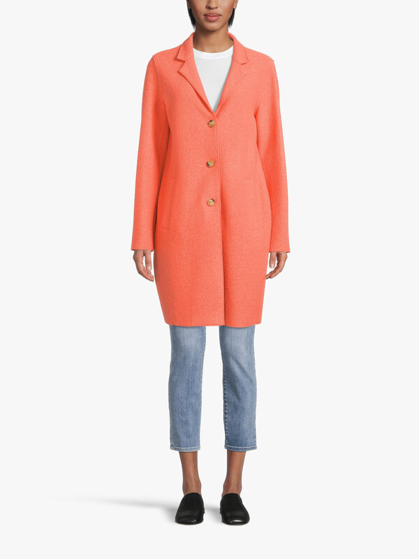 Unlined Button Front Coat