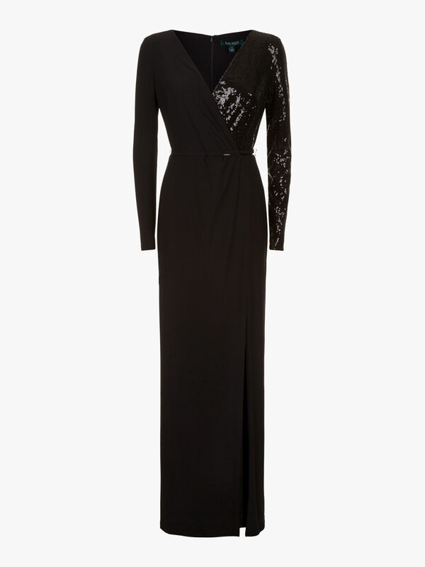 Bellamy Long Sleeve Evening Dress