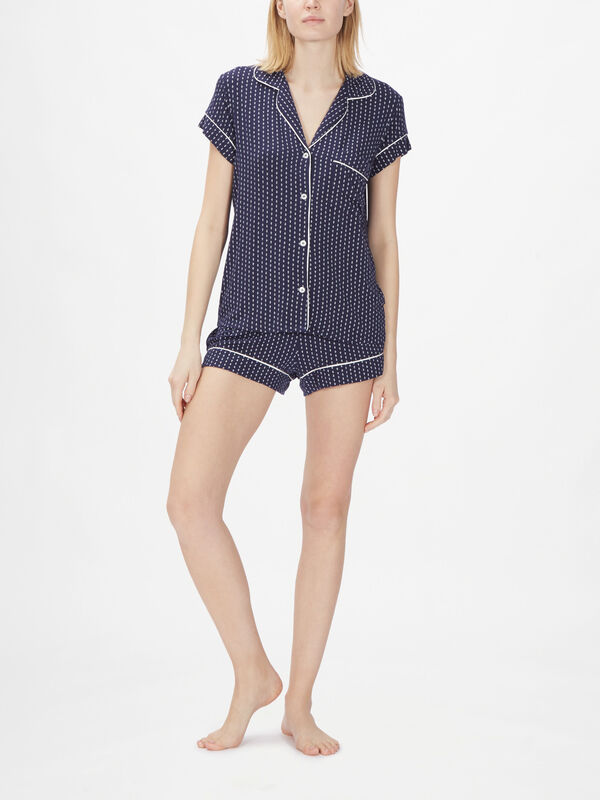 Geo Spots Short PJ Set