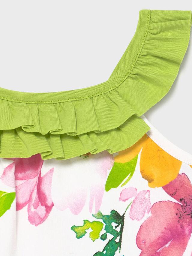 Ruffle Neck & Printed Sundress