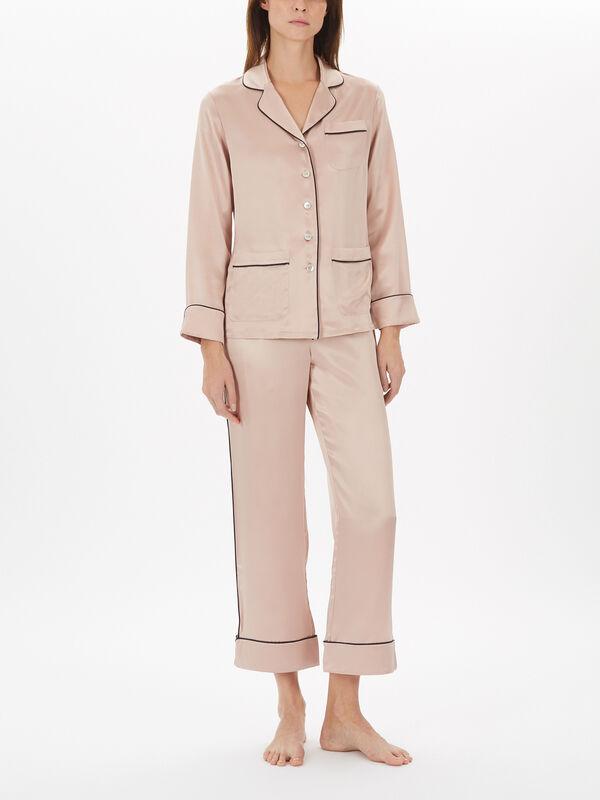 Lila Zebedee Printed Silk Pyjama