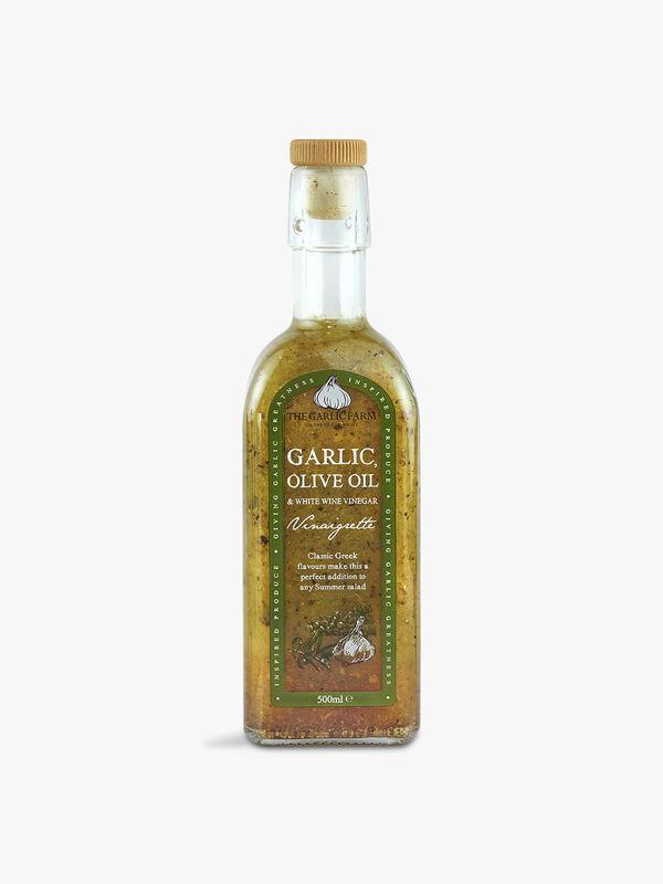 Garlic, Olive Oil & White Wine Vinegar Dressing 500ml