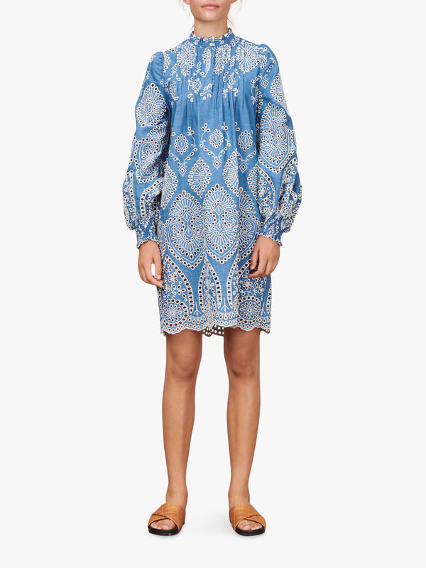 Tepic Embroidered Short Dress