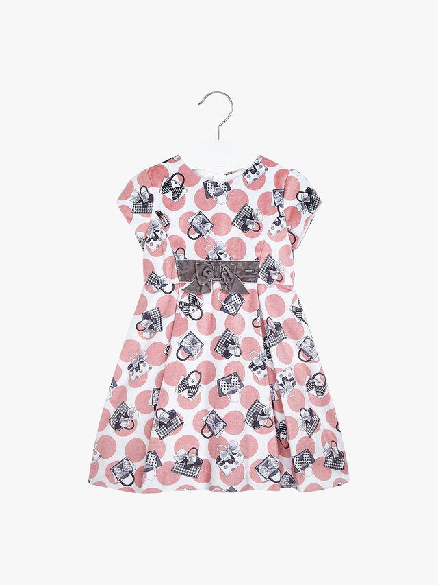 Handbag Print Dress Velvet