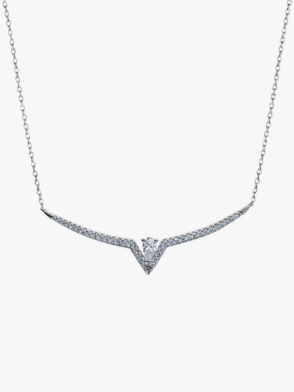 Victoria Pendant Necklace White Gold