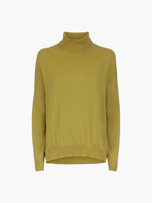 Lightweight Wool Roll Neck Knit