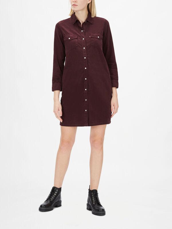 Selma Long Sleeve Loose Short Dress