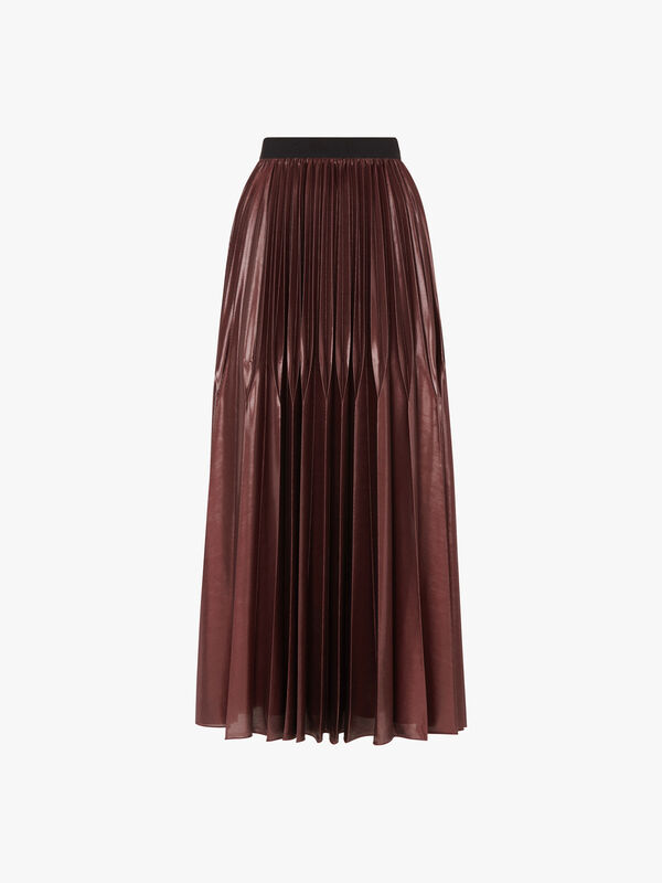 Super Jersey Pleated Midi Skirt