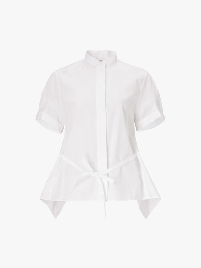 Tremiti Tie Detail Cotton Shirt