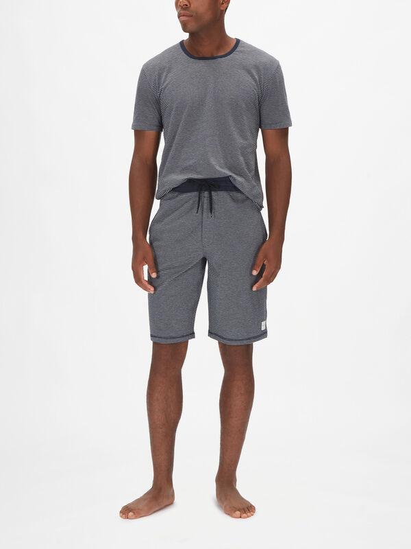 Marine Stripe Loungewear Shorts