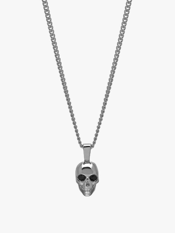 Atticus Skull Necklace In Gunmetal