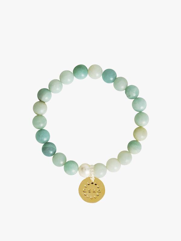 Amazonite Gold Maternity Bracelet