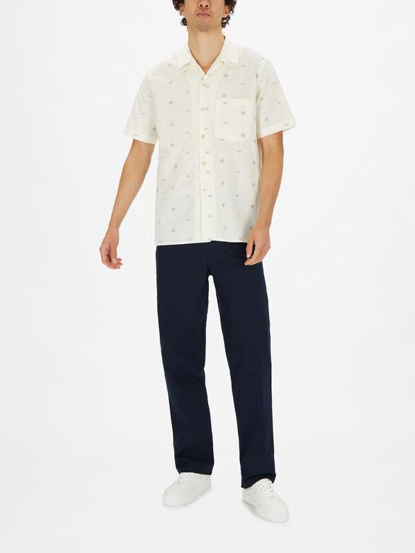 Shortsleeve Allover Dot Pattern Shirt