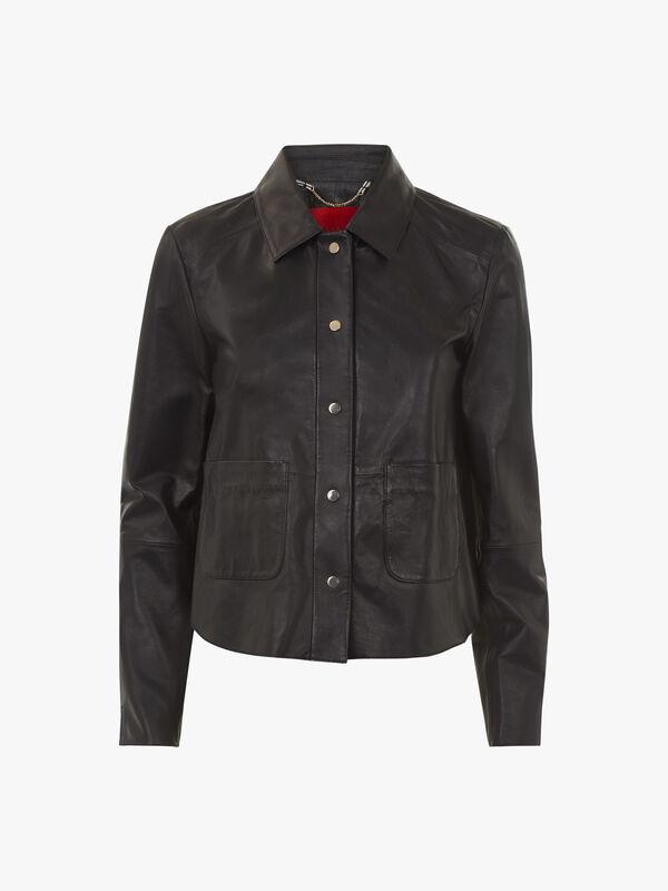 Demetra Boxy Leather Jacket