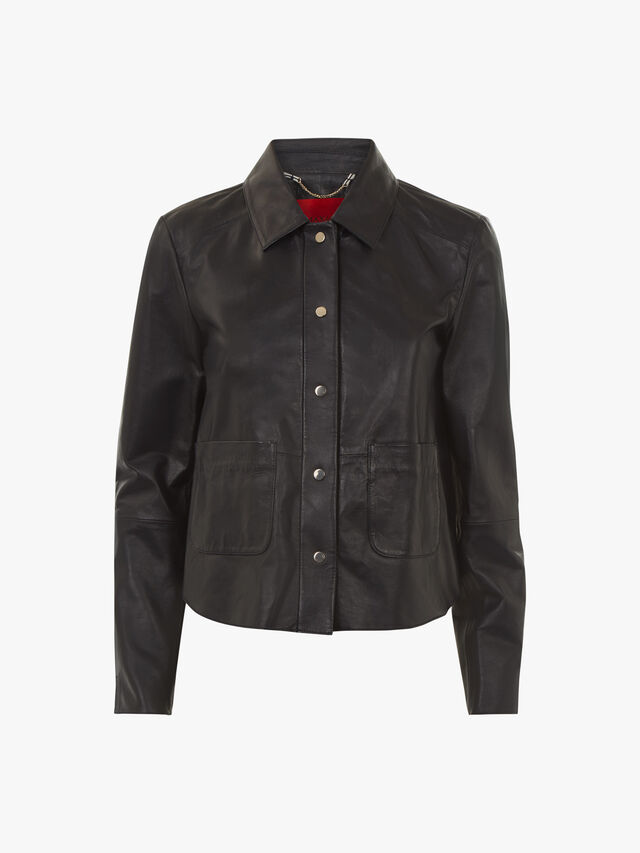 Demetra Boxy Leather Jacket