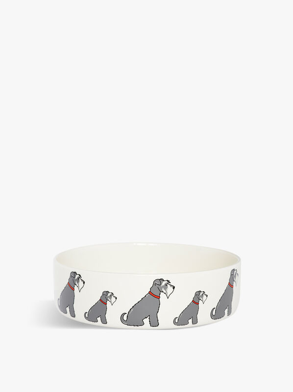 Large Schnauzer Dog Bowl