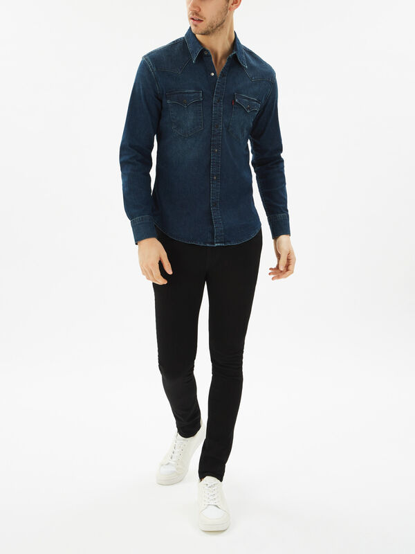 Barstow Western Slim Denim Shirt