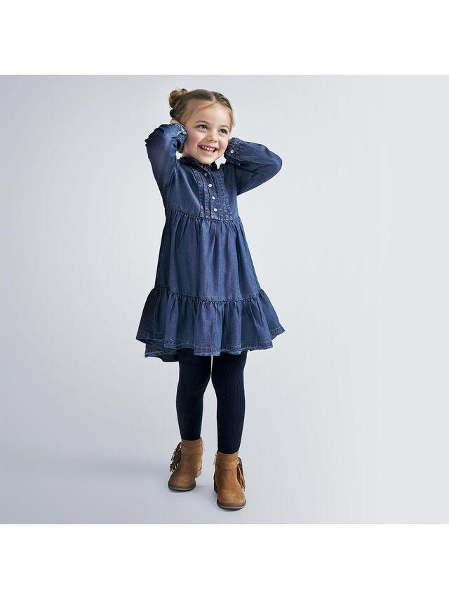 Denim Dress With Button Details