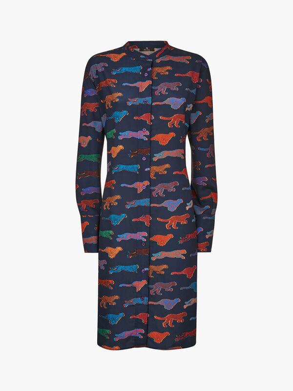 Cheetah Shirt Dress