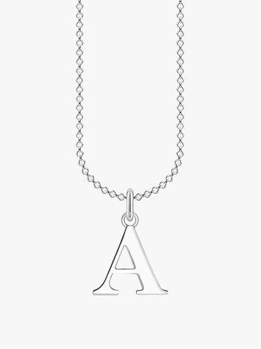 A Letters Pendant Necklace