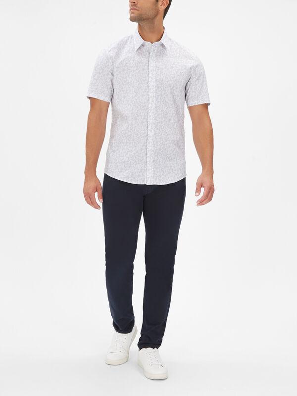 Slim Short Sleeve Botanical Shirt