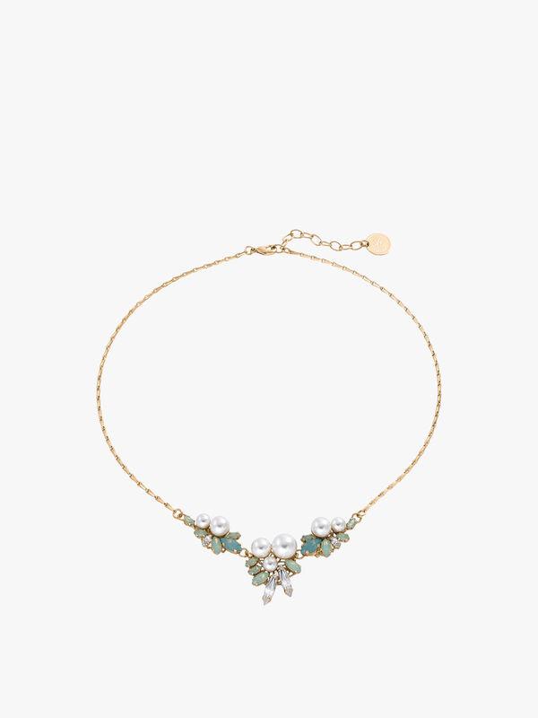 Short Tripple Cluste Necklace
