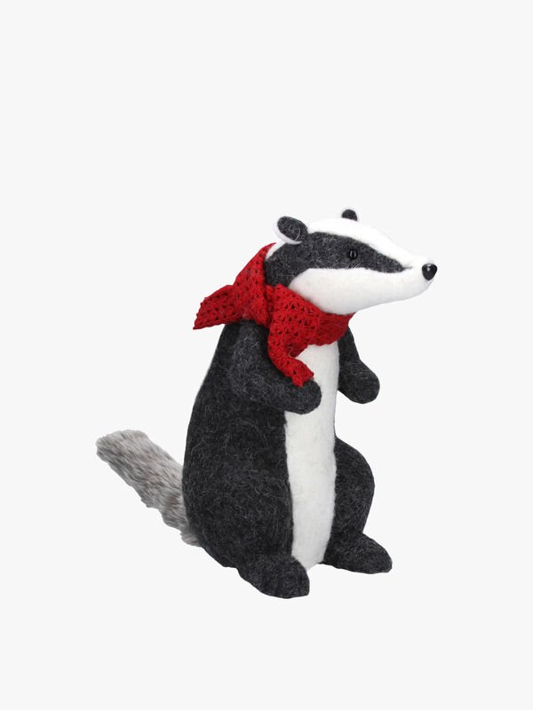 Badger with Scarf Christmas Decoration