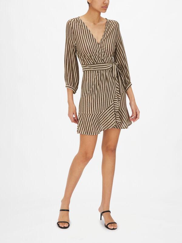 Pesaro Striped Wrap Dress