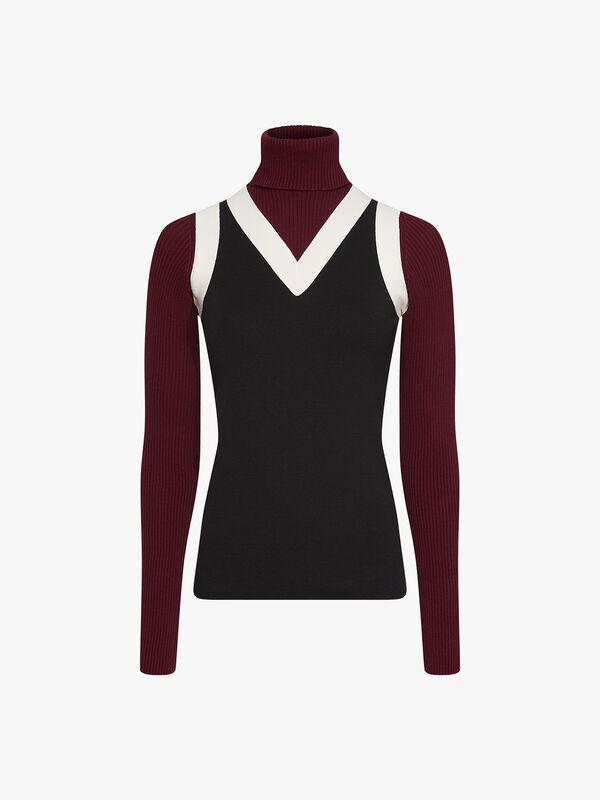 Zendaya Panel Roll Neck Sweater