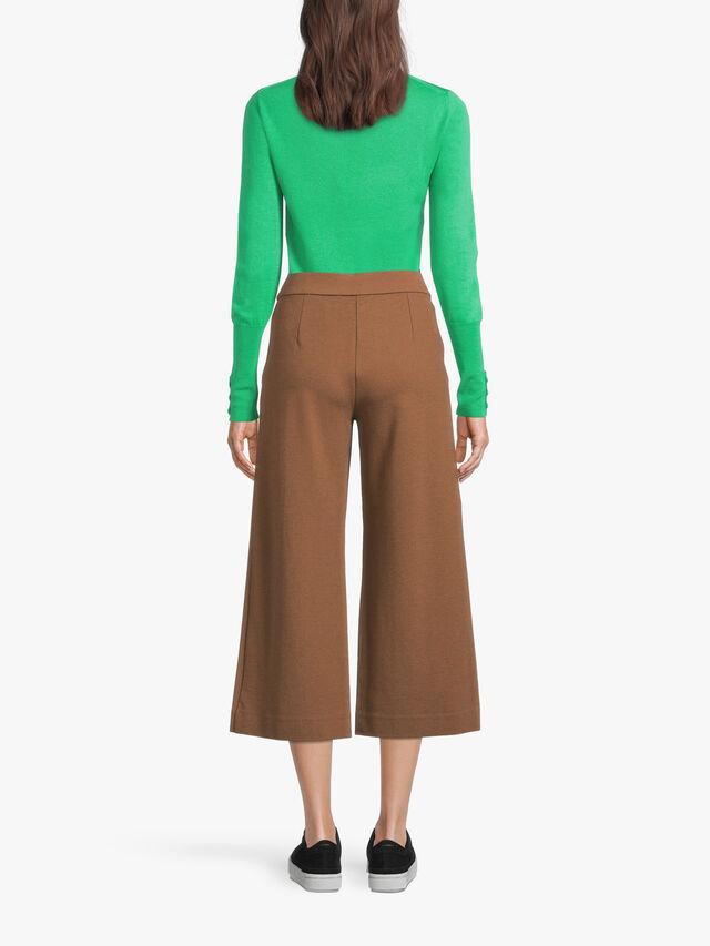 Piana Ponte Wide Crop Trouser